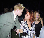 """Seth Green, Mindy Sterling and her Sister Amy.EXCLUSIVE.""""Austin Powers"""" Post Premiere Party.Universal Studios.Hollywood, CA.July 22, 2002.Photo By Celebrityvibe.com.."""