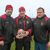 Ennis U16 Rugby Team Management Liam Browne, Nigel Moloney and Ken Butler