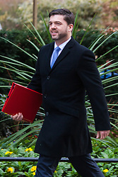 Downing Street, London, January 27th 2015. Ministers attend the weekly cabinet meeting at Downing Street. PICTURED: Welsh Secretary Stephen Crabb
