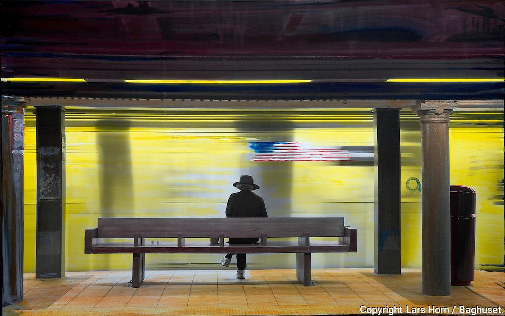 NYC in Colors.  Horn/Andersen<br /> Memento mori130x200Kr.   25.000,-<br /> Foto: © Lars Horn / Baghuset<br /> Date : 16.06.13