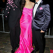 NLD/Amsterdam/20100929 - Pink Ribbon Gala 2010, Bas Meulenbroek, Miryanna van Reeden en Addy van den Krommenacker