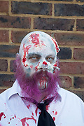 "Stoke Newington Zombie-a-thon. Hundreds of people joined together in protest in North London to demonstrate against the planned opening of a large Sainsbury's supermarket. Dressed up as zombies the protesters were making the point that they should keep local shops in the area and not have the high street ruined by large chains. The action by Stokey Local says: ""In Stoke Newington, even the dead are rising up to say 'no' to a proposed Sainsbury's development."" Walking slowly as if in a zombie film the march culminated in passing a Sainsbury's Local supermarket on the High Street. In the middle of June it was announced that a development is being planned for Wilmer Place, just beside Abney Park Cemetery on the corner of Church Street and the High Street – right in the heart of Stoke Newington. The proposed development comprises a large Sainsbury's supermarket and 44 homes and has significant implications for the diversity of the local economy, local employment, transport & traffic, noise and safety and local heritage."