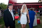 GEOFF COUSINS; MD JAGUAR; EMMA NOBLE, The Summer Party. Serpentine Gallery. 8 July 2010. -DO NOT ARCHIVE-© Copyright Photograph by Dafydd Jones. 248 Clapham Rd. London SW9 0PZ. Tel 0207 820 0771. www.dafjones.com.