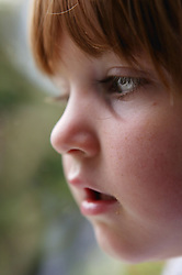 Close up of a young girl,