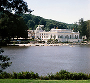 Boating lake and casino Bagnoles de l'Orne, Normandy, France  in 1976