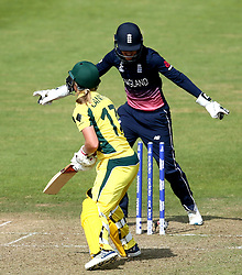 Meg Lanning of Australia Women is bowled by Alex Hartley of England Women - Mandatory by-line: Robbie Stephenson/JMP - 09/07/2017 - CRICKET - Bristol County Ground - Bristol, United Kingdom - England v Australia - ICC Women's World Cup match 19