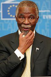 Nov 17, 2004; Strasburg, FRANCE; President of South Africa THABO MBEKI of the European Parlament.  (Credit Image: © Mauro Scrobogna/LaPress/ZUMAPRESS.com)