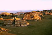 MEXICO, ZAPOTEC, OAXACA Monte Alban; hilltop site overview