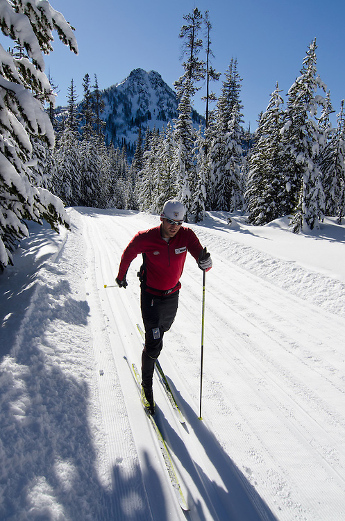 Nordic skiing at at the Anthony Lakes Ski Area in Oregon.