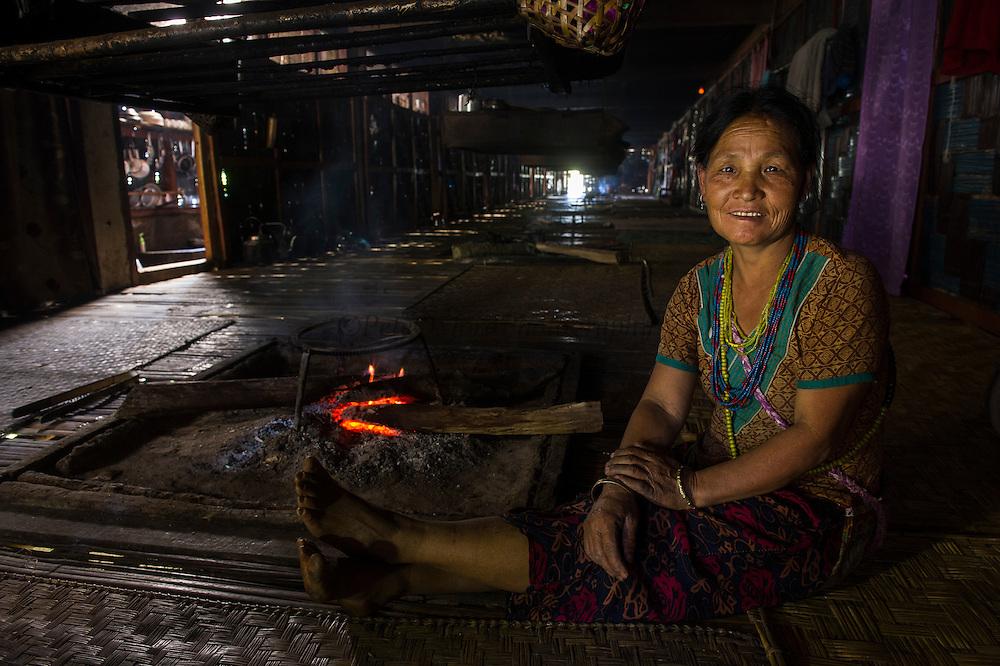 Nyshi Long House<br /> Nyshi Tribe<br /> Arunachal Pradesh<br /> North East India