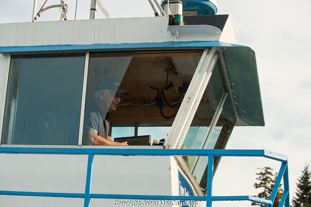Captivated by the ferry system to Deer Island, New Brunswick, we chatted with   Mr. Lord, the man himself, of Lord's Ferry. These ferries transport cars and foot traffic alike from shore to shore, utilizing beach landings, no docks.