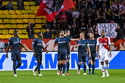 November 6, 2018 - Monaco, France - Joie - Wesley - Benoit Poulain - Denwill - Hans Vanaken - Ruud Vormer - Mats Rits - (Club Bruges) - Djibril Sidibe (AS Monaco) - Deception (Credit Image: © Panoramic via ZUMA Press)