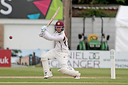 Northamptonshire wicket keeper Ben Duckett during the Specsavers County Champ Div 2 match between Northamptonshire County Cricket Club and Essex County Cricket Club at the County Ground, Wantage Road, Abingdon, United Kingdom on 28 May 2016. Photo by Nigel Cole.