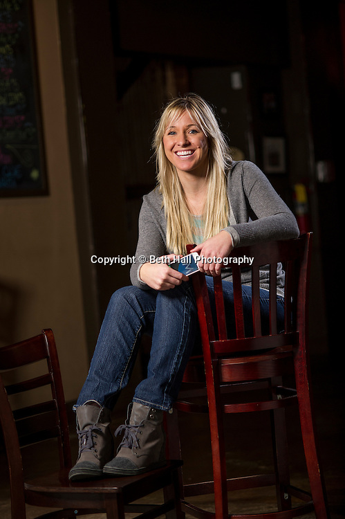 Seggebruch poses for a photo on Monday, February 10, 2014, in Fayetteville, Arkansas.