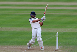 Yorkshire's Jack Leaning pulls the ball. Photo mandatory by-line: Harry Trump/JMP - Mobile: 07966 386802 - 24/05/15 - SPORT - CRICKET - LVCC County Championship - Division 1 - Day 1- Somerset v Sussex Sharks - The County Ground, Taunton, England.