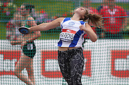 Sarah Parsons competing in the Women's Discus Throw Final. The British Championships 2016, athletics event at the Alexander Stadium in Birmingham, Midlands  on Sunday 26th June 2016.<br /> pic by John Patrick Fletcher, Andrew Orchard sports photography.