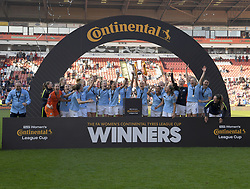 February 23, 2019 - Sheffield, England, United Kingdom - Manchester City win the League Cup during the  FA Women's Continental League Cup Final  between Arsenal and Manchester City Women at the Bramall Lane Football Ground, Sheffield United FC Sheffield, Saturday 23rd February. (Credit Image: © Action Foto Sport/NurPhoto via ZUMA Press)