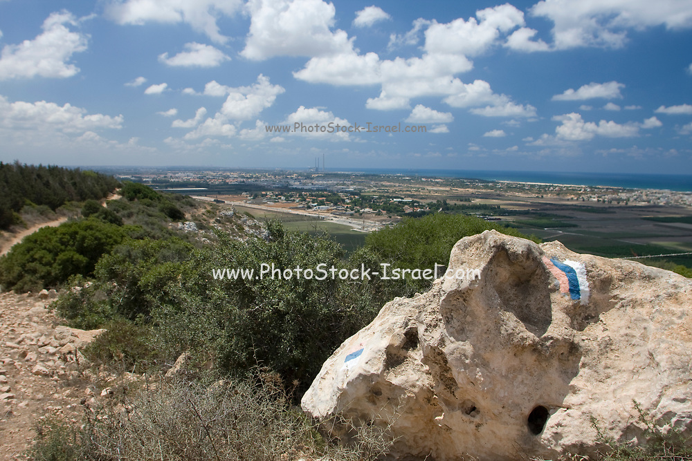 Israel Trail at Hotem HaKarmel [Chotem Ha-carmel or Chotem ha-Karmel<br /> ] is a nature reserve on south western slopes of Mount Carmel, Israel