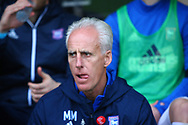 Ipswich manager Mick McCarthy during the EFL Sky Bet Championship match between Burton Albion and Ipswich Town at the Pirelli Stadium, Burton upon Trent, England on 28 October 2017. Photo by John Potts.