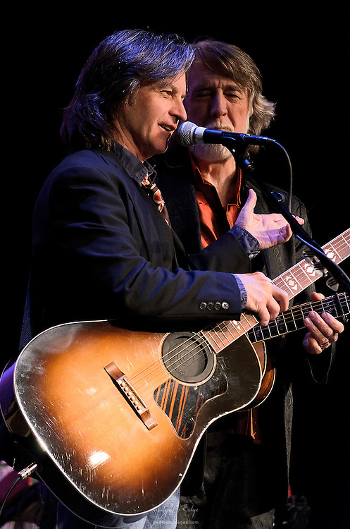 Jeff and John during their performance with Nitty Gritty Dirt Band at the Landis Theater in Vineland, NJ.