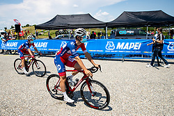 Gal GLIVAR of ADRIA MOBIL and Gasper KATRASNIK of ADRIA MOBIL prior to 1st Stage of 27th Tour of Slovenia 2021 cycling race between Ptuj and Rogaska Slatina (151,5 km), on June 9, 2021 in Slovenia. Photo by Matic Klansek Velej / Sportida