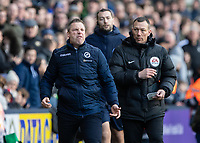 Football - 2018 / 2019 Emirates FA Cup - Sixth Round, Quarter Final : Millwall vs. Brighton<br /> <br /> Neil Harris, Manager of Millwall FC, reacts to the referee sending off Shane Ferguson (Millwall FC) at The Den.<br /> <br /> COLORSPORT/DANIEL BEARHAM