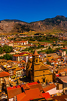 High angle view of the town of Loja, Granada Province, Andalusia, Spain.
