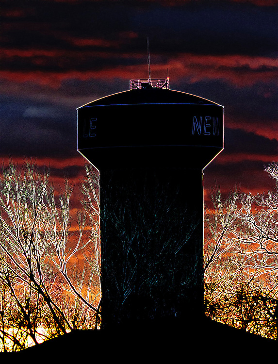 The water tower in the heart of New Melle Missouri.