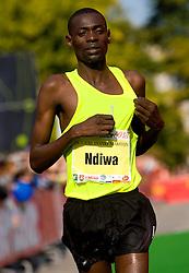 Allan Masai Ndiwa of Kenya at the finish line of the 14th Marathon of Ljubljana, on October 25, 2009, in Ljubljana, Slovenia.  (Photo by Vid Ponikvar / Sportida)