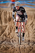 SHOT 1/12/14 12:42:47 PM - Peter Goguen (#56) of Hopedale, Ma. competes in the Men's 17-18 Race in the 2014 USA Cycling Cyclo-Cross National Championships at Valmont Bike Park in Boulder, Co. Goguen won the race with a time of 40:13. (Photo by Marc Piscotty / © 2014)