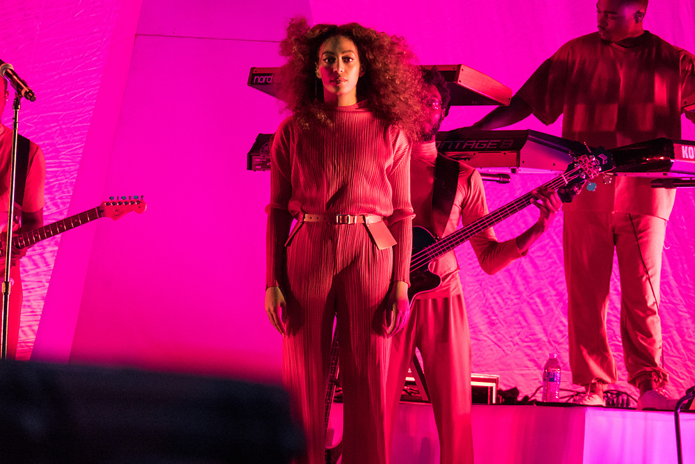 Solange performs at the Panorama Music Festival in New York City on July 28, 2017.