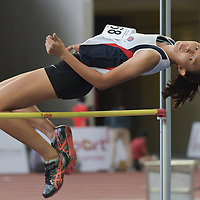 Lim En Ning (#168) of Dunman High School, cleared 1.54m on her first attempt to win joint silver. (Photo © Stefanus Ian/Red Sports)
