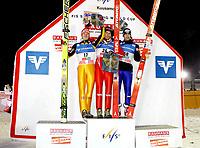 Hopp FIS World Cup<br /> 28.11.2009<br /> Kuusamo Finland<br /> Foto: Gepa/Digitalsport<br /> NORWAY ONLY<br /> <br /> FIS Weltcup, Nordic Opening 2009. Bild zeigt Pascal Bodmer (GER), Bjørn Einar Romøren (NOR) und Wolfgang Loitzl (AUT)