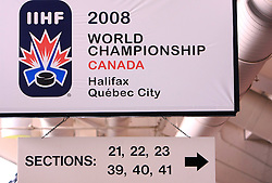 Metro Arena at IIHF WC 2008 in Halifax, on May 09, 2008 in Metro Center, Halifax, Nova Scotia, Canada. Slovakia won 5:1. (Photo by Vid Ponikvar / Sportal Images)