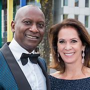 NLD/Amsterdam/20180616 - 26ste AmsterdamDiner 2018, Annemarie van Gaal en partner Rhandy Macnack