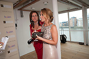 SARAH DAVENPORT; KIMBERLEY WALSH, Breast Cancer Haven 10th Anniversary Gala Event aboard Super Luxury Yacht Seabourn Sojourn. Off Canary Wharf. London. 5 June 2010. -DO NOT ARCHIVE-© Copyright Photograph by Dafydd Jones. 248 Clapham Rd. London SW9 0PZ. Tel 0207 820 0771. www.dafjones.com.