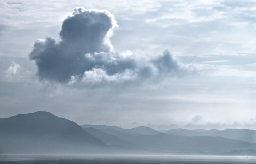 Norway - Cloud over Trondheimfjord