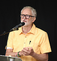 Jeremy Corbyn speaking at  The People's Assembly protest london . photo by Krisztian Elek