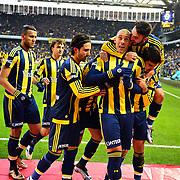 Fenerbahce's Fernandao (R) during their Turkish super league soccer match Fenerbahce between Caykur Rizespor at the Sukru Saracaoglu stadium in Istanbul Turkey on Sunday 24 January 2016. Photo by Kurtulus YILMAZ/TURKPIX