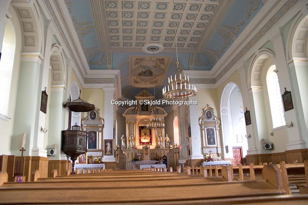 Interior of St Katherines Polish Catholic Church.   Rzeczyca   Central Poland