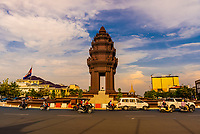 The Independence Monument  in Phnom Penh, capital of Cambodia, was built in 1958 for Cambodia's independence from France in 1953. It stands on the intersection of Norodom Boulevard and Sihanouk Boulevard in the centre of the city.