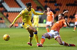 Oliver Turton of Blackpool tackles Daniel Leadbitter of Bristol Rovers - Mandatory by-line: Alex James/JMP - 03/11/2018 - FOOTBALL - Bloomfield Road - Blackpool, England - Blackpool v Bristol Rovers - Sky Bet League One