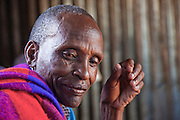 Chief Sammy, a Maasai chief eating at a small meat restaurant in the Maasai village of Oldorko, several hours from Narok, Kenya. He is the husband of Noolkisaruni Tarakua (the third of his four wives). (Noolkisaruni Tarakuai is featured in the book What I Eat: Around the World in 80 Diets.)