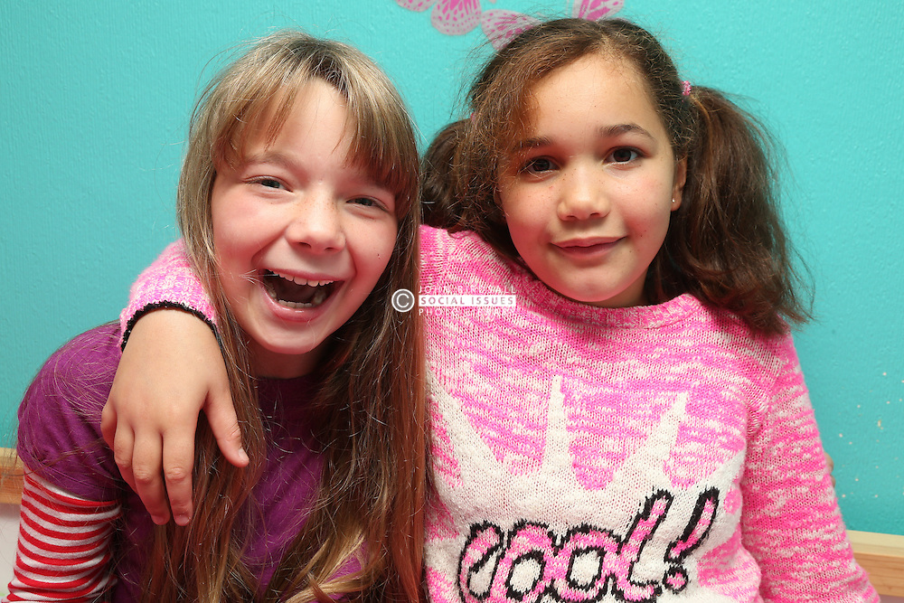 Portrait of girls smiling