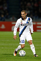 FOOTBALL - UEFA CHAMPIONS LEAGUE 2011/2012 - GROUP STAGE - GROUP B - LILLE OSC v INTER MILAN - 18/10/2011 - PHOTO CHRISTOPHE ELISE / DPPI - WESLEY SNEIJDER (INTER MILAN)