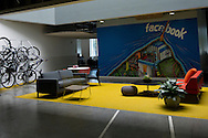 A mural adorns the wall in a meeting area at the new Facebook headquarters in Menlo Park, CA on Friday, April 20, 2012. Photo by Erin Lubin