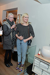 Left to right, JAKKI JONES wife of Stereophonics' lead singer Kelly Jones and FEARNE COTTON at a Valentine's charity event to raise heart awareness and support the charity Arrhythmia Alliance held at Sophie Gass, 4 Ladbroke Grove, London on 13th February 2014.