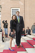 Prinses Leonore dochter , de jongste dochter van Prins Constantijn en  Prinses Laurentien is zondagochtend 8 oktober 2006 in  de kapel van Paleis Het Loo  in Apeldoorn gedoopt. / Princes Leonore, the jongest daughter of Prince Constantijn en Princes Laurentien, is baptist in Palace Het Loo in Apeldoorn.<br /> <br /> Op de foto / On the photo:  Prinses Aimee en prins Floris / Princes Aimee and Prince Floris