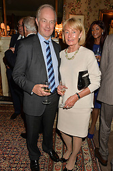 PETER LILLEY MP & GAIL LILLEY at a party to celebrate the publication of Right or Wrong: The Memoirs of Lord Bell held at Mark's Club, Charles Street, London on 16th October 2014.