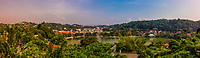 Overview of Kandy lake and the center of Kandy, Central Province, Sri Lanka.